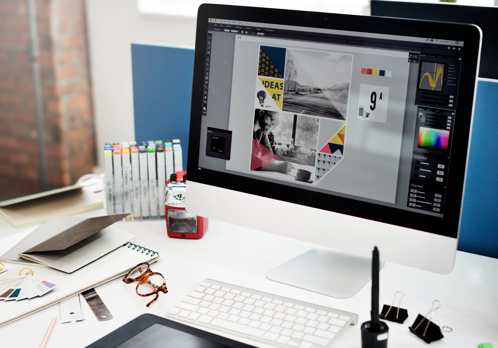 design brief for a client being shown on a computer screen